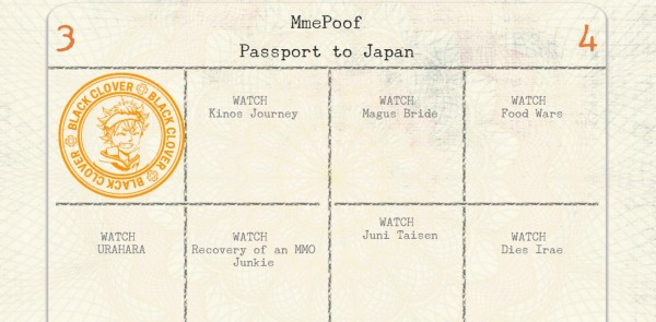 Black Clover Passport