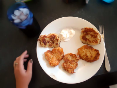 Deruny, or potato pancakes