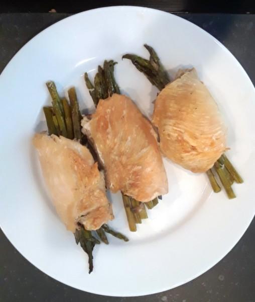 Chicken Asparagus Rolls