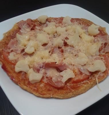 Oat bran crust pizza