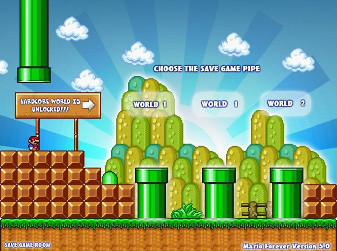 Play Classic Mario Forever!