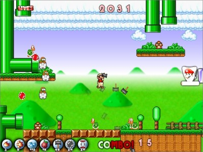 Survival shooter Mario bootleg in action!