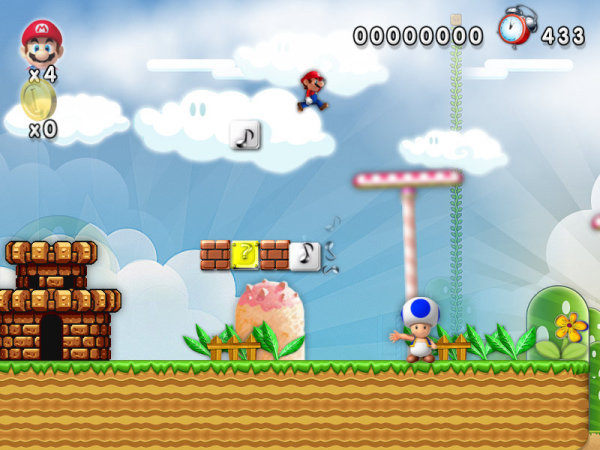 New Mario Forever 2012 Mushroom Stage