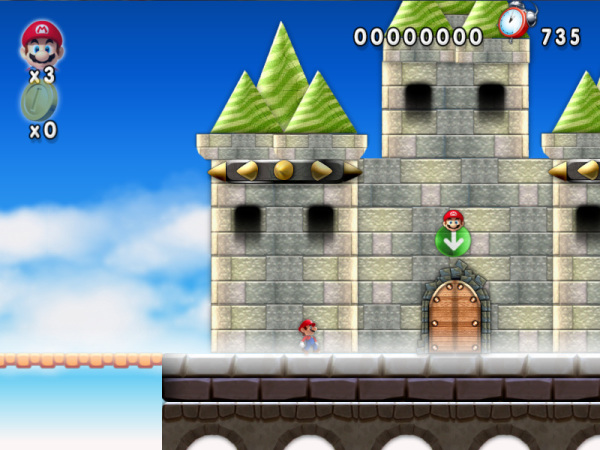 New Mario Forever Castle Entrance