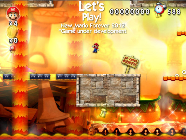 Lava World! Super Mario!