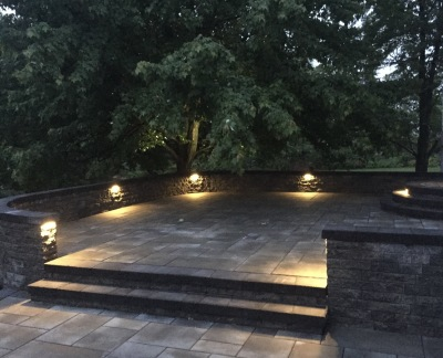 Custom Patio and Wall install with lighting