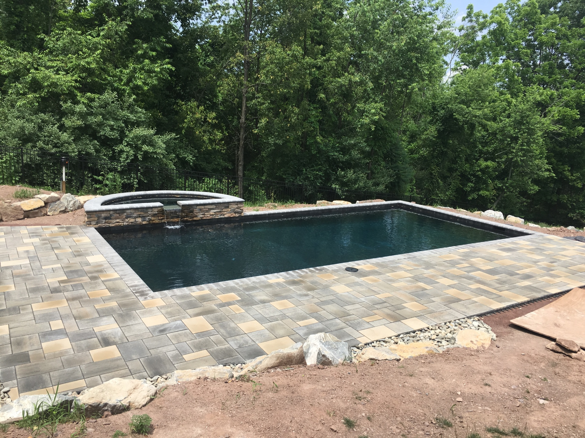 Custom Blended Pool Deck