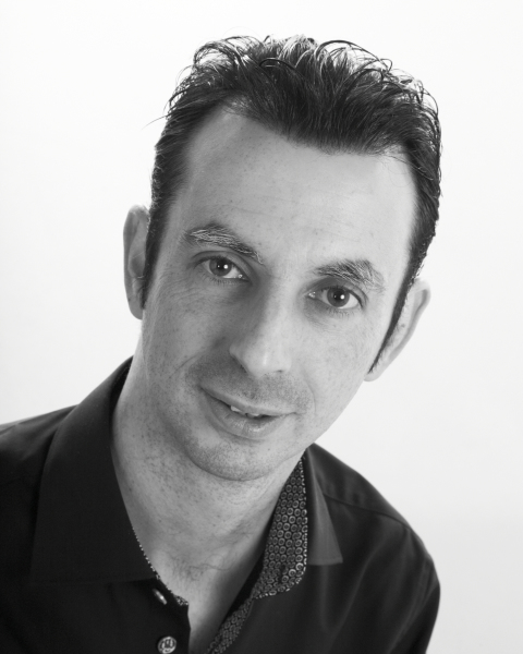 Black and white photo of Kieran Fanning (author).