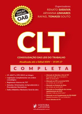 CLT Edição Especial OAB 2017 - Sem a Reforma Trabalhista