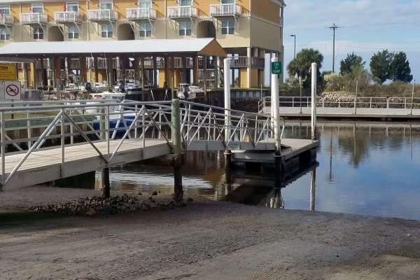 Public Boat Ramp at Keaton Beach Florida