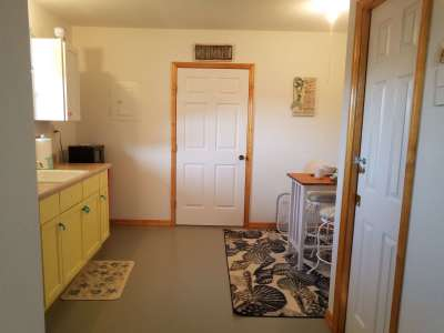 Privacy Door between living area and bedroom Margaritaville Efficiency Available for Additional Charge When Renting Main Home