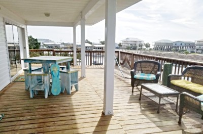 Porch Over-Looking the Canal and 40' Boat Dock