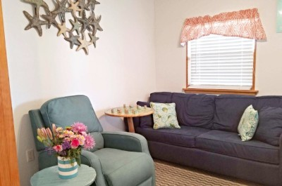 Living Room/Sofa Margaritaville Efficiency Available for Additional Charge When Renting Main Home