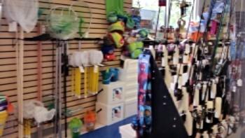 fishing and snorkeling supplies at Walter B's at Keaton Beach Florida