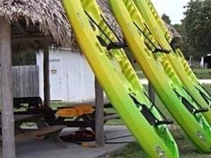 Kayaks at Walter B's at Keaton Beach Florida