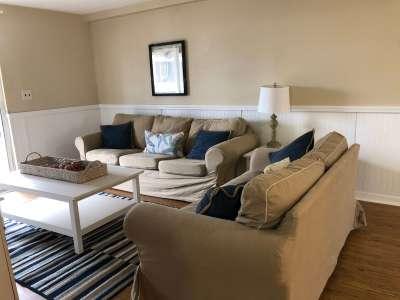 Living room at School of Reds Vacation rental at Keaton Beach/ Flat Screen TV