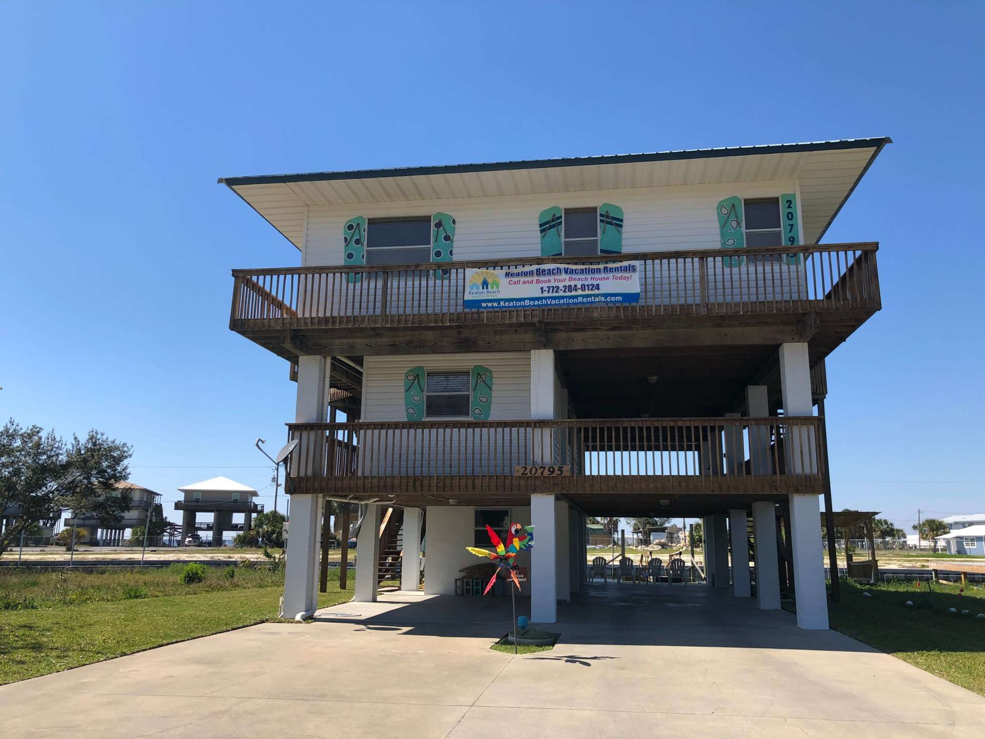 Margaritaville three story vacation rental located on deep water canal
