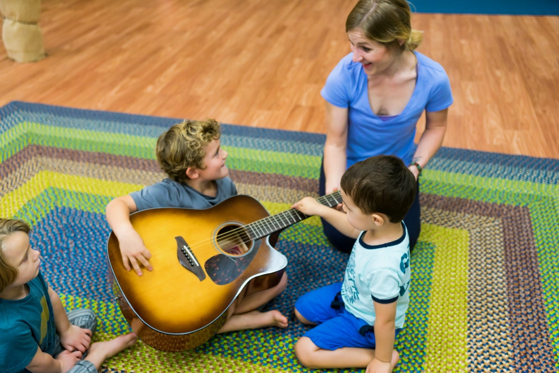 family music class, guitar, preschool music, oceanside