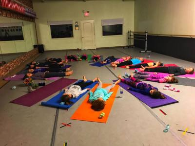 savasana, girl scouts, kids yoga, kids yoga class, oceanside