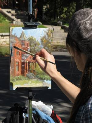 Plein air in Museum Hill