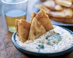 Pita with Hummus or Tzatziki Dip