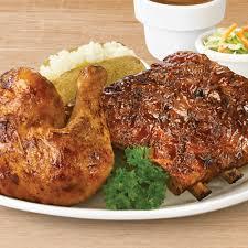 BBQ Chicken & 1/2 Rack of Ribs