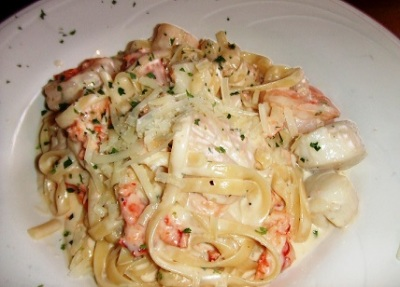 Eleni's Seafood Fettuccini