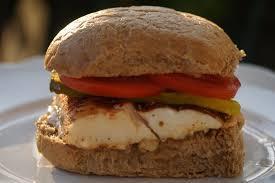 Halibut Filet Burger