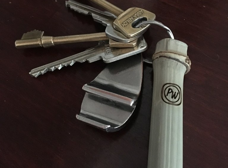 Engraved Bamboo Key Chains