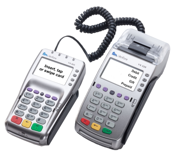 VX 570 Credit Card Machine with Debit Pin Pad