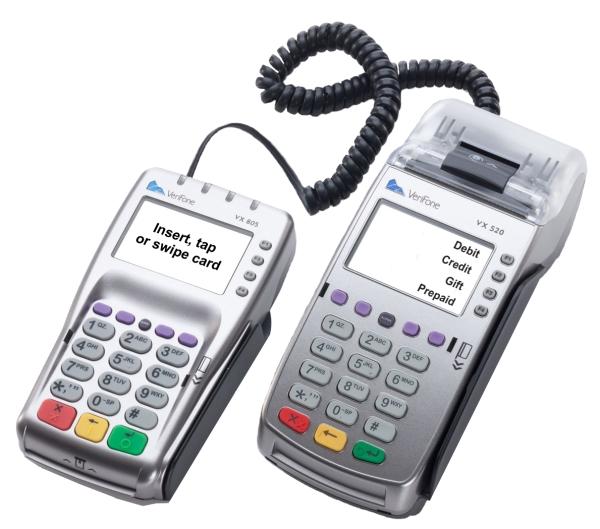 VX 570 Credit Card Machine with Debit Pin Pad