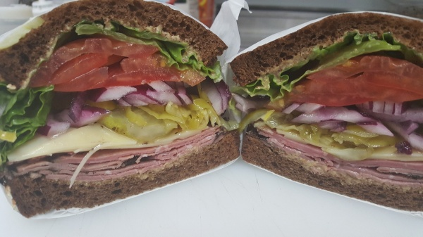 Pastrami Sandwich on Squaw bread