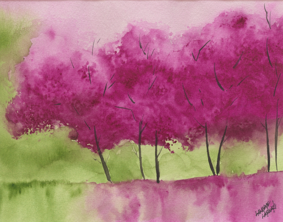Magenta Dream Trees