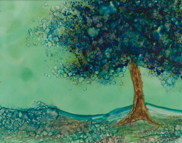 Blue Silver Tree