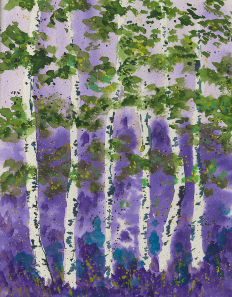 Purple Aspen Grove #1