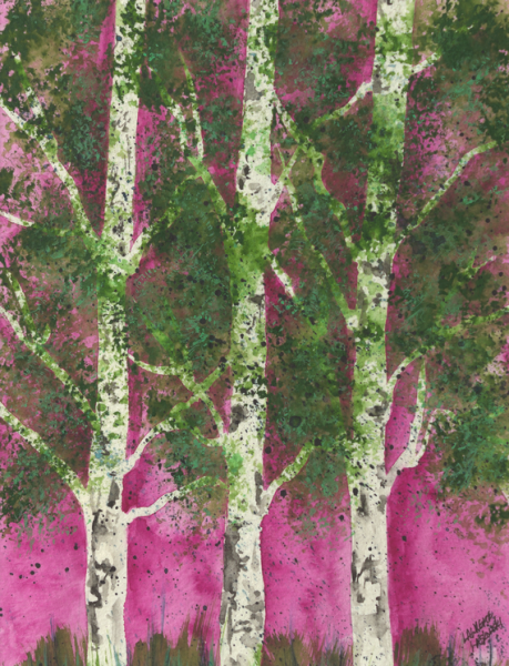 Magenta Aspen Grove #1