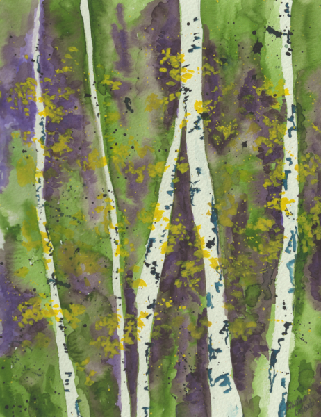 Purple-Green Aspen Grove