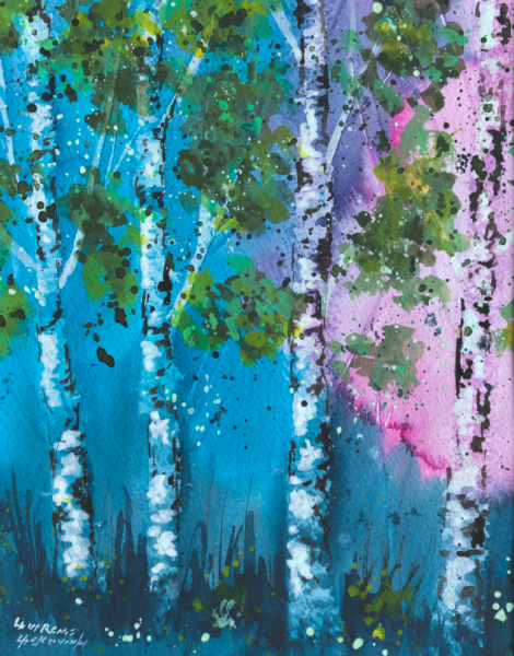 Purple Aspen Grove #2