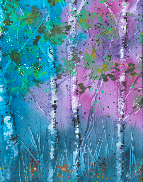 Purple Aspen Grove #3