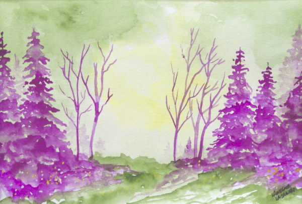 Purple Calm Meadow