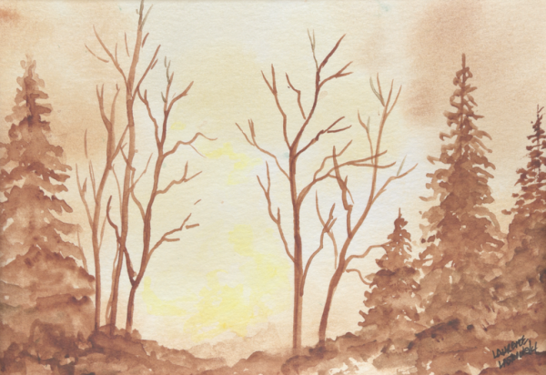Sepia Calm Meadow