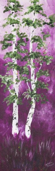 Tall Violet Aspens