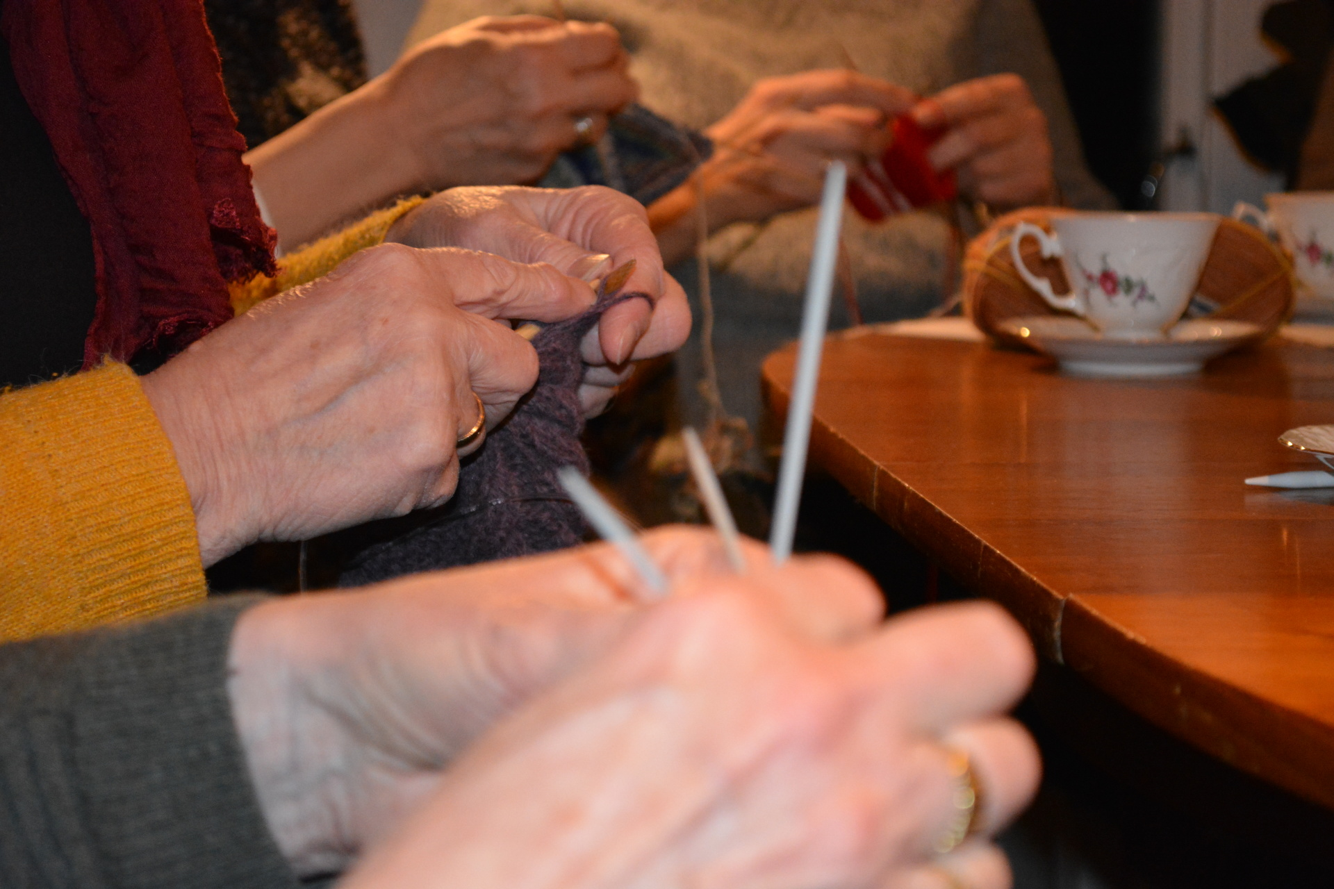 Busy hands, wonderful knitting