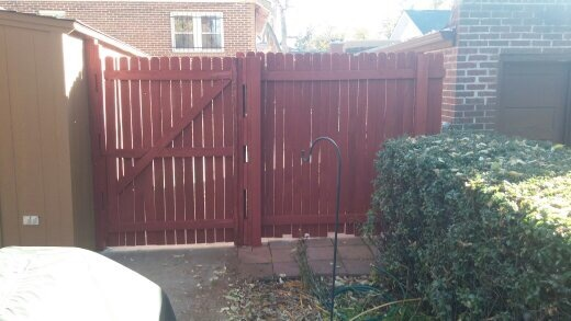 AFTER (Stained Fence)