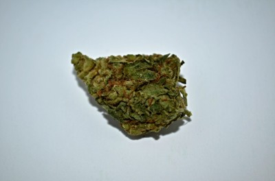 Violator Cannabis on white backround with review