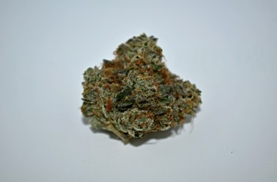Pink Kush Cannabis strain on white backround with Green Quality review