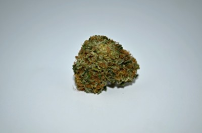 Bubba Pink Cannabis strain on white backround with green quality review