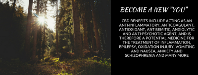 CBD BENEFITS INCLUDE ACTING AS AN ANTI-INFLAMMATORY, ANTICOAGULANT, ANTIOXIDANT, ANTISEMITIC...