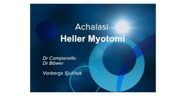 Achalasi - Heller Myotomi