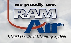 We proudly use Ram Air for our heating and cooling vent cleaning